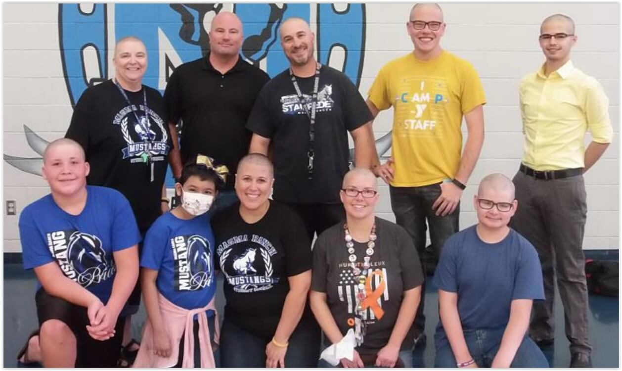 Teachers Shave Heads To Raise Funds For Student With Leukemia