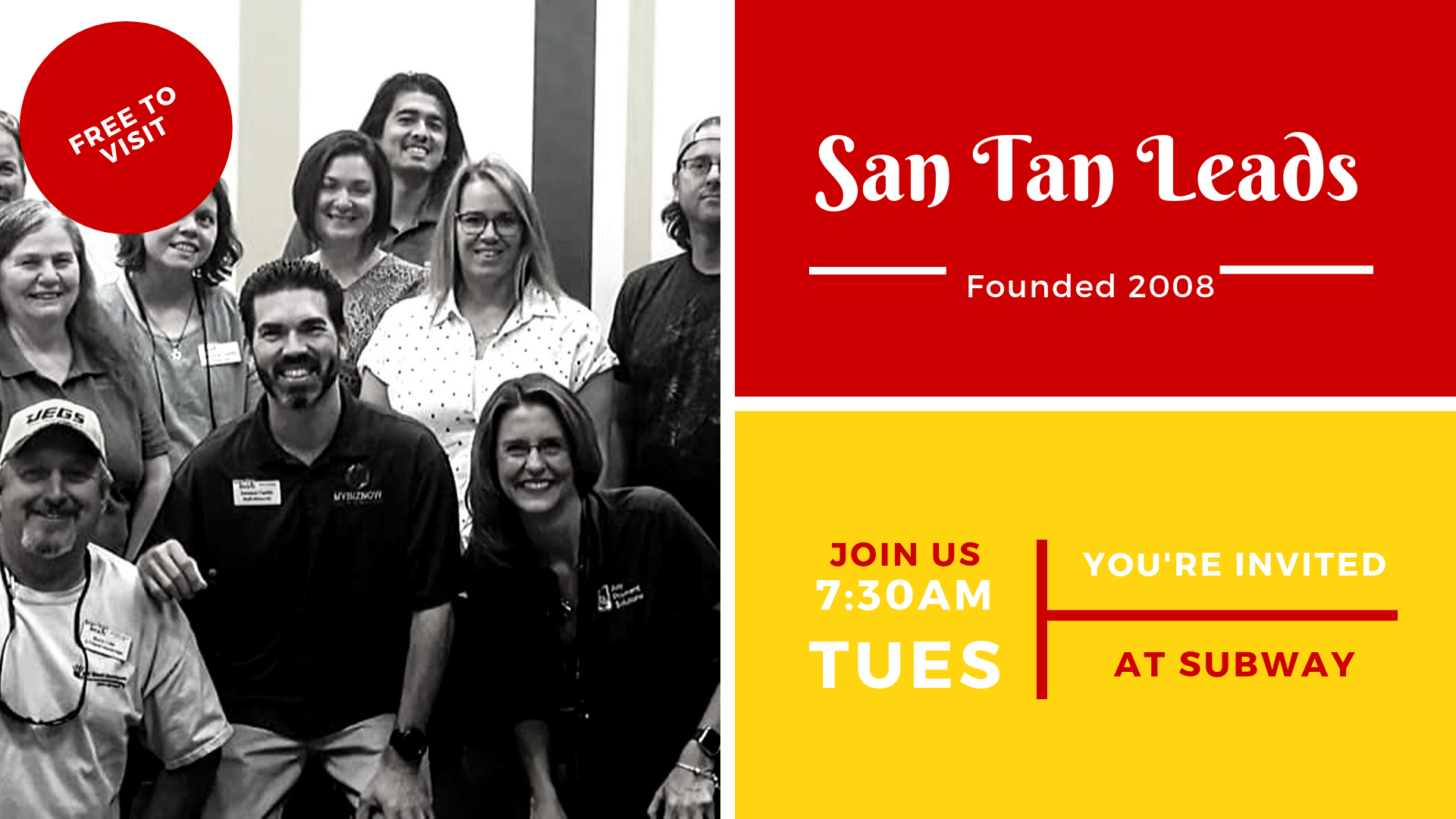 Join us as a guest at San Tan Leads!